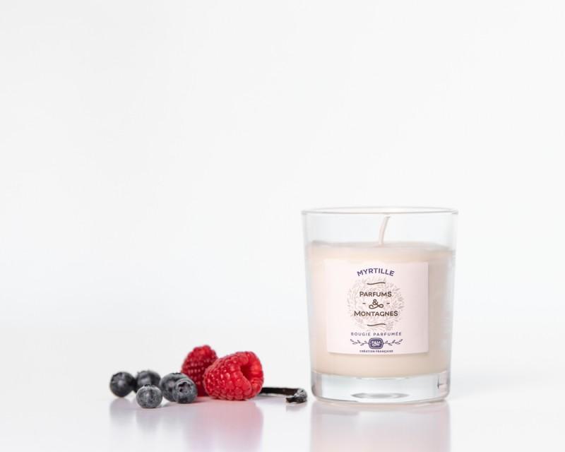 Bougie parfumée naturelle  Myrtille