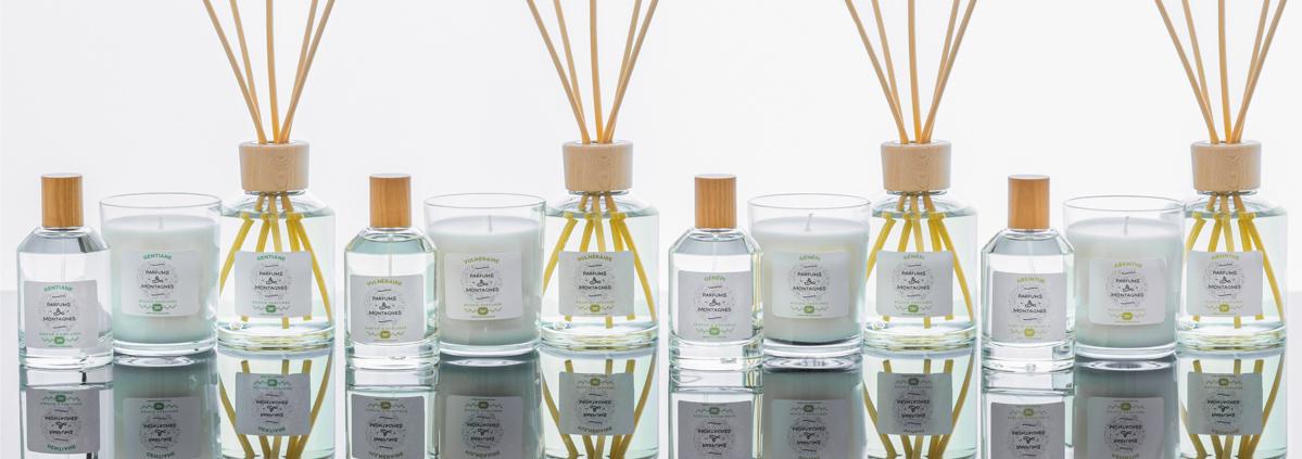 Notre gamme complète de parfums d'intérieur
